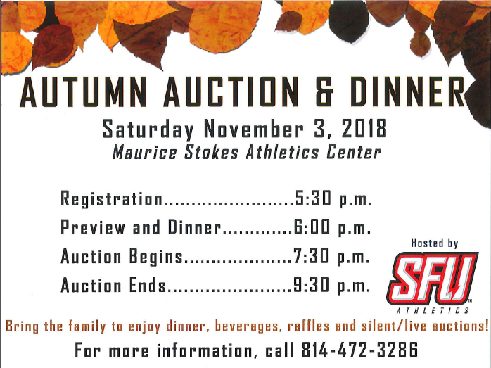 11/3 St Francis Athletic Auction - Templeton Auctioneer